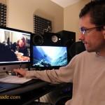 Composer Adam Spade spotting session